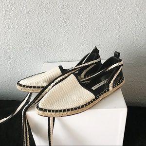 Zara Lace Up Espadrille Flats